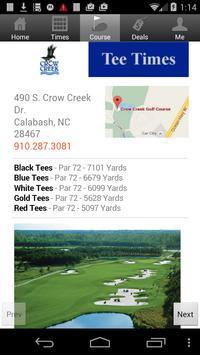 Crow Creek Golf Tee Times screenshot 2