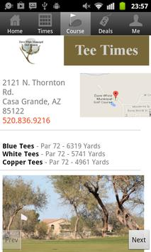Dave White Golf Tee Times screenshot 2