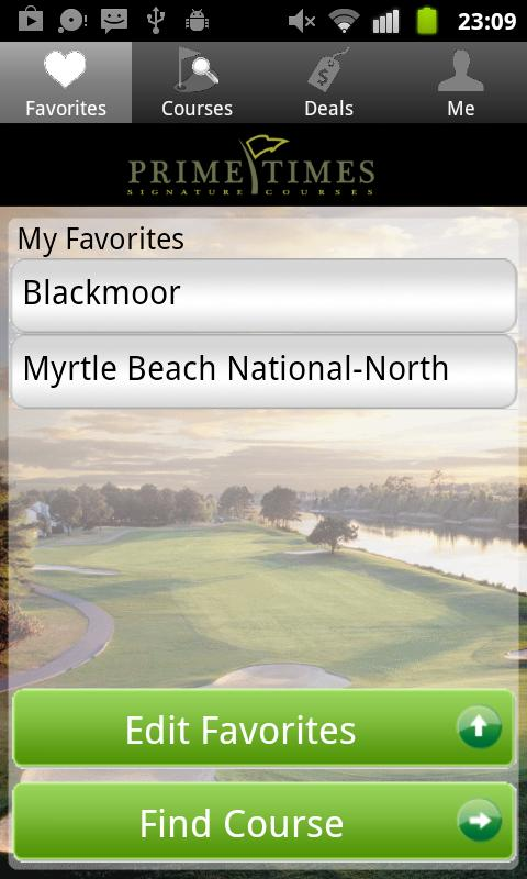 Prime Time Golf Tee Times For Android