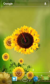 Sunflower Clock Live Wallpaper screenshot 3