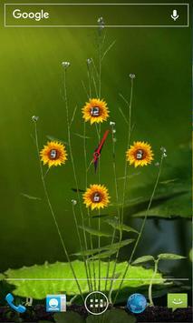 Sunflower Clock Live Wallpaper poster