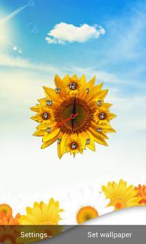 Sunflower Clock Live Wallpaper screenshot 1