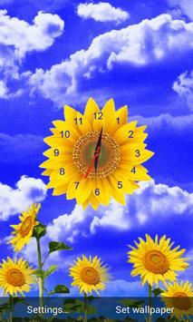 Sunflower Clock Live Wallpaper screenshot 2
