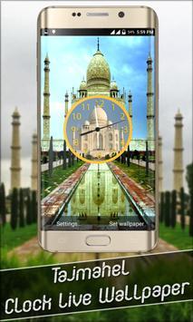 Taj Mahal Clock Live Wallpaper poster