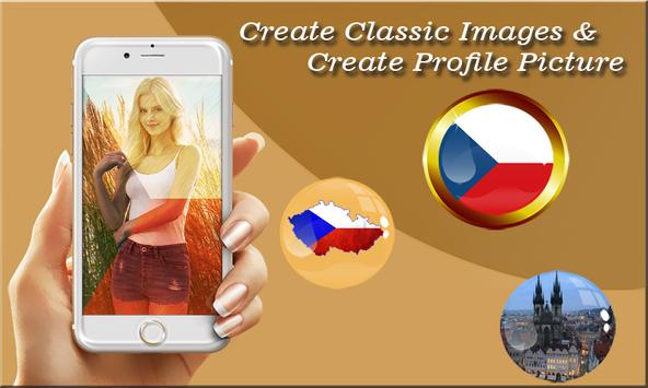 Czech Flag Photo Editor poster
