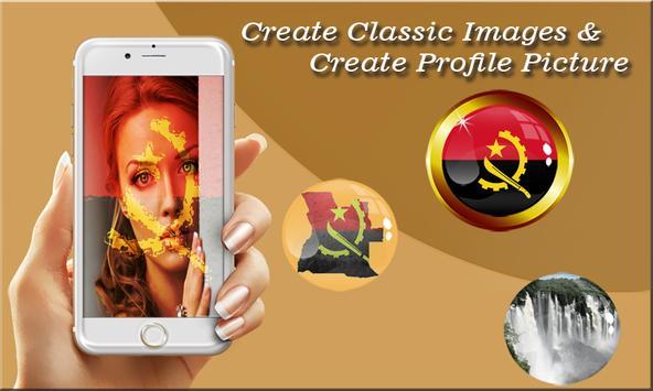 Angola Flag Photo Editor poster