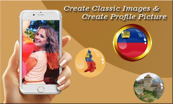 Liechtenstein Flag Photo Editor poster