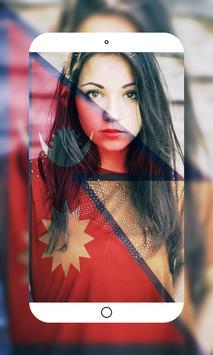 Nepal Flag Photo Editor screenshot 3