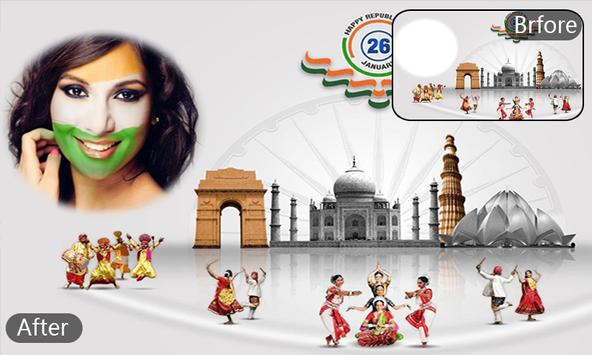 Republic Day HD Photo Frames - indian Republic day apk screenshot