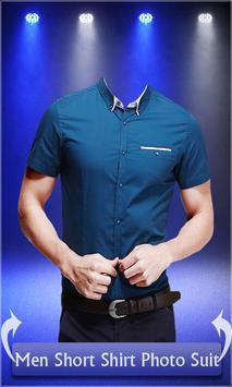 Men Short Shirt Photo Suit poster