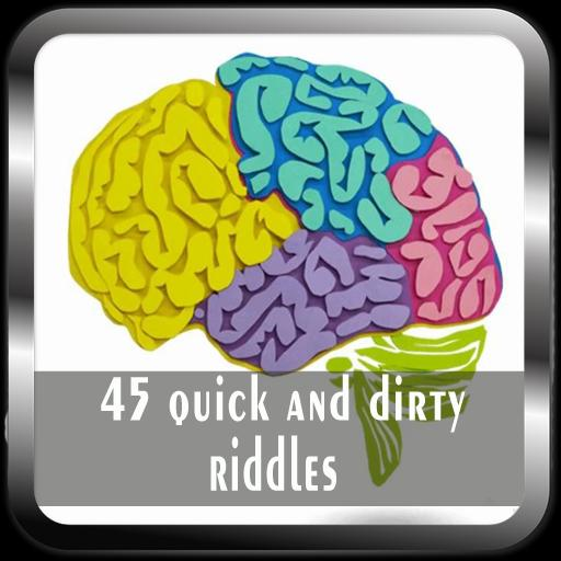 45 quick and dirty riddles poster