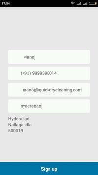 Xwash Laundry Service apk screenshot
