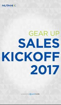 Nutanix 2017 Sales Kickoff poster