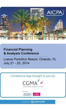 AICPA FP&A Conference poster