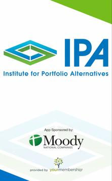 Institute for Portfolio Alts poster