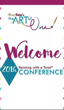 2016 PAINTING WITH A TWIST CON poster