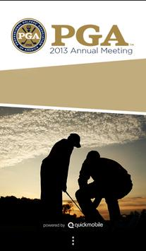 2013 PGA Annual Meeting poster