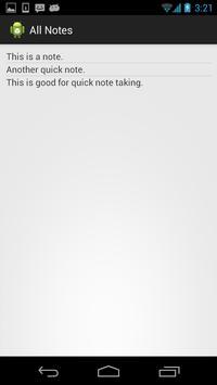 QuickNote screenshot 1