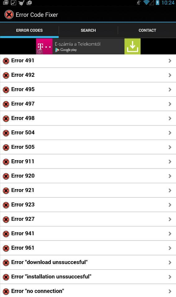 Android Error Code Fixer for Android - APK Download