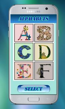 Quilling Alphabets Wallpapers – Alphabets Designs poster