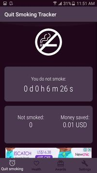 Quit Smoking Tracker - Cessation Nation poster