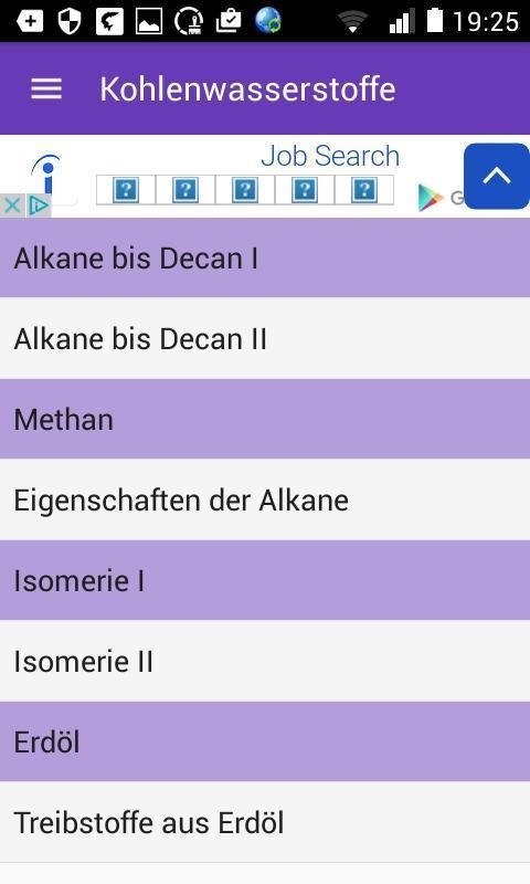 Eigenschaften der alkane
