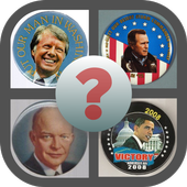 Campaign buttons USA icon