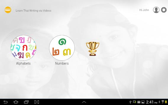 Learn Thai writing apk screenshot