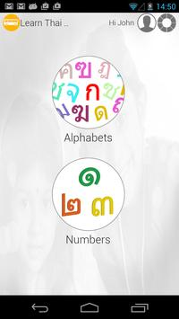 Learn Thai writing poster