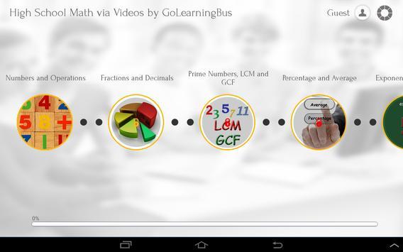 High School Math via Videos apk screenshot