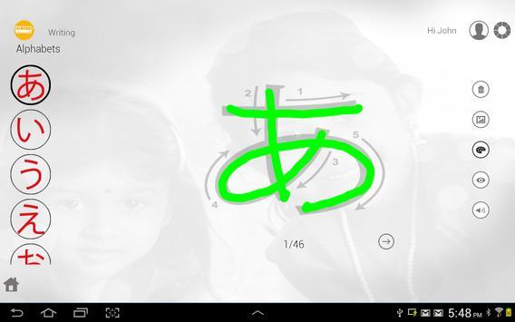 Learn Japanese writing apk screenshot