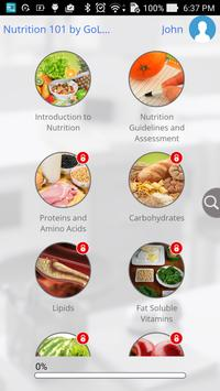 Nutrition 101 by GoLearningBus apk screenshot