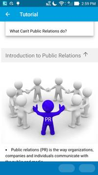 Learn Public Relations apk screenshot
