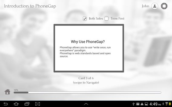 Learn PhoneGap and HTML5 apk screenshot