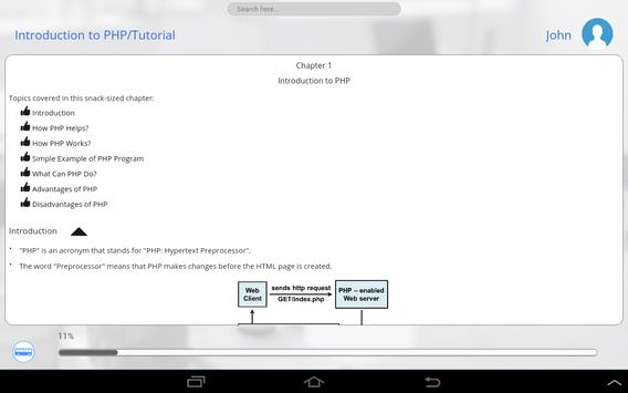 PHP and JavaScript by WAGmob apk screenshot