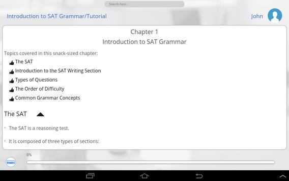 Learn SAT English apk screenshot