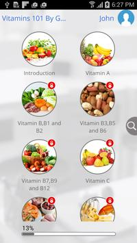 Vitamins 101 by GoLearningBus स्क्रीनशॉट 3