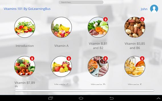 Vitamins 101 by GoLearningBus apk screenshot