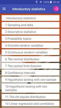 Introductory Statistics syot layar 1