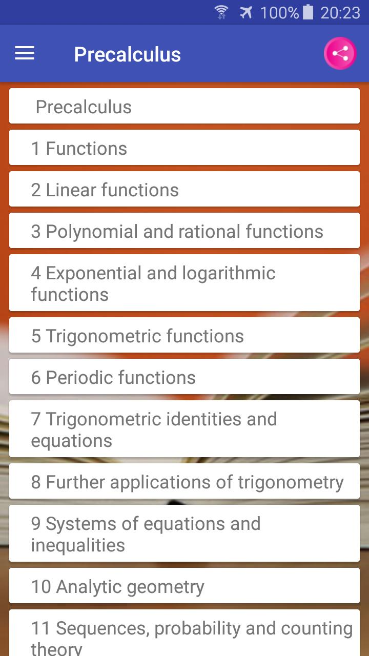 Precalculus Textbook, MCQ, Test Bank for Android - APK Download