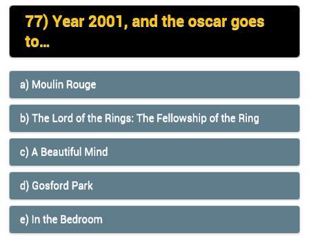 movie quiz: oscar winners apk screenshot