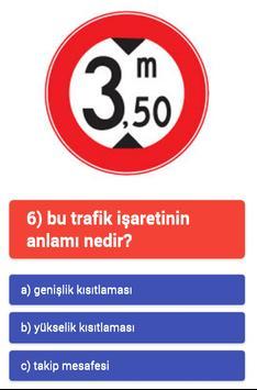 trafik işaretleri testi apk screenshot