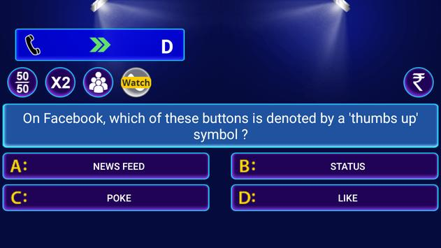 Dual Language Million Quiz स्क्रीनशॉट 3