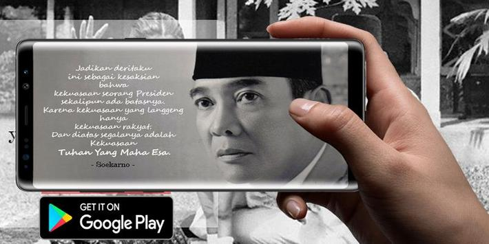Quote Soekarno first president of indonesia poster