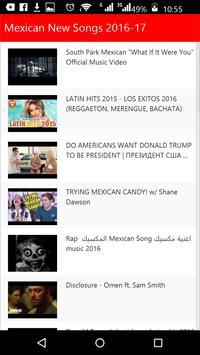 Mexican New Songs apk screenshot