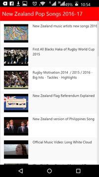 New Zealand  Pop Songs apk screenshot