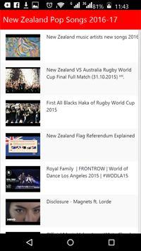 New Zealand  Pop Songs poster
