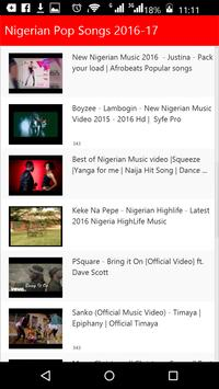 Nigerian Pop Songs apk screenshot