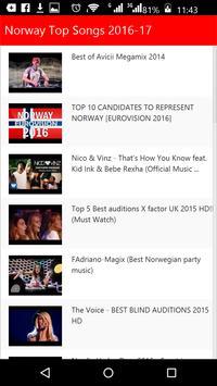 Norway  Top Songs screenshot 1