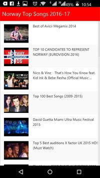 Norway  Top Songs screenshot 2